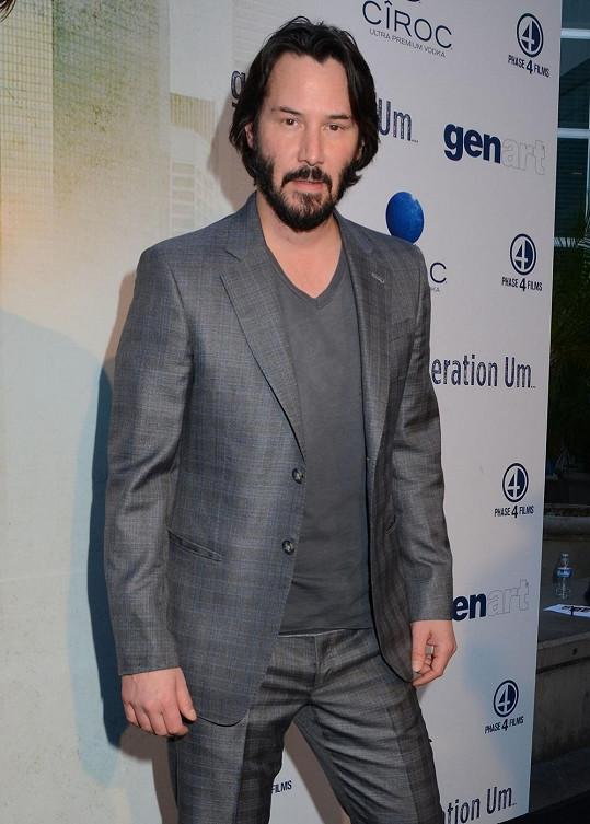 Keanu Reeves ještě na začátku května.