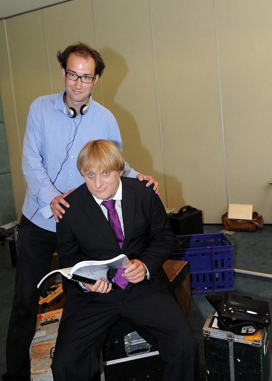 Lukáš s režisérem filmu Tomášem Pavlíčkem