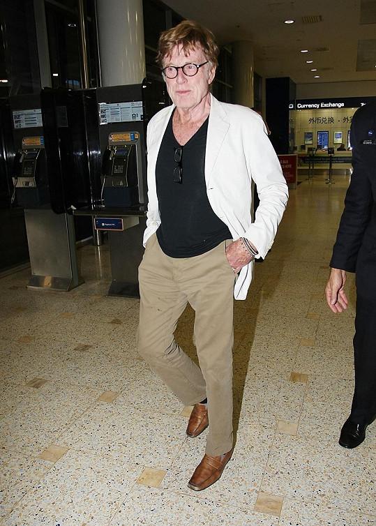 Hollywoodská legenda Robert Redford přiletěl do Sydney.