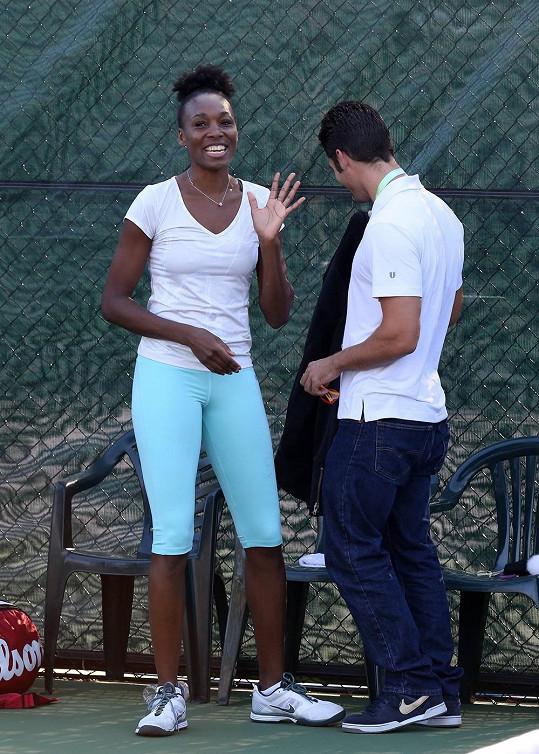 Venus Williams vypadá nadmíru spokojeně.