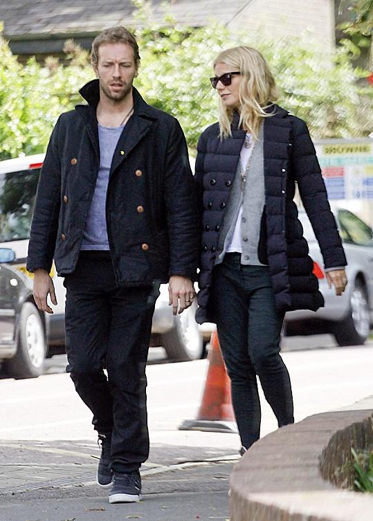 Chris Martin s manželkou Gwyneth Paltrow