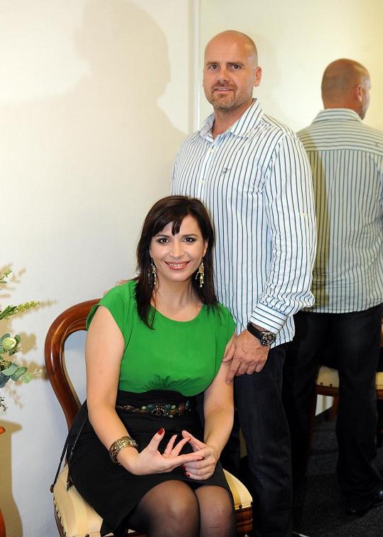 Andrea Kalivodová se snoubencem Radkem