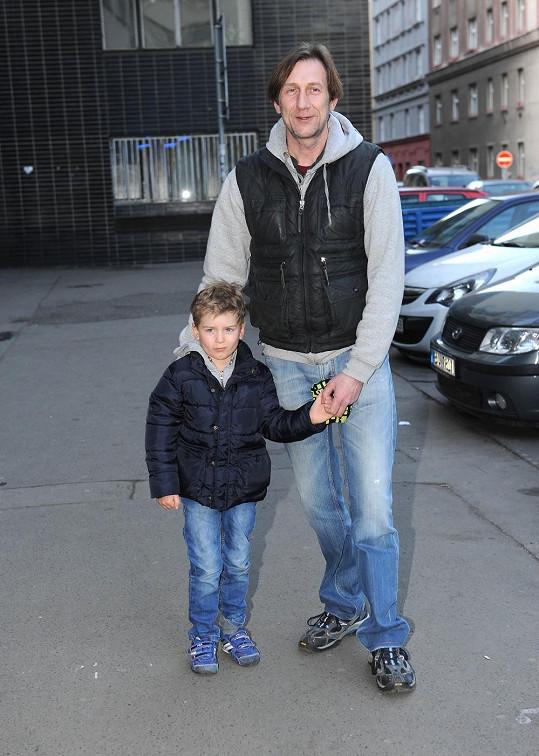 Jan Antonín Duchoslav se synem Toníkem