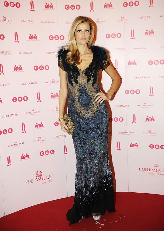 Tereza Maxová byla opět hostem Plesu v Opeře.