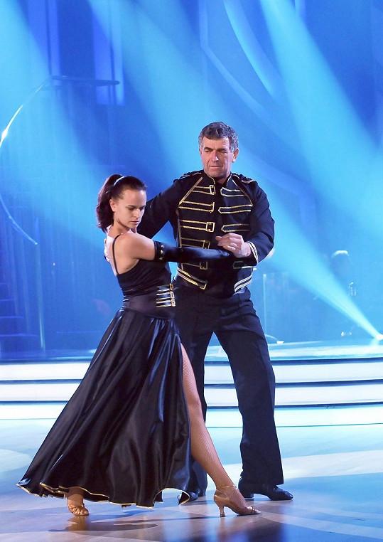 Imrich Bugár a Jitka Šorfová tančí paso doble.