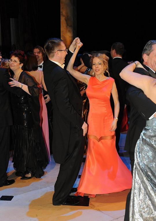 Roman Šmucler se s partnerkou pustil i do tance.