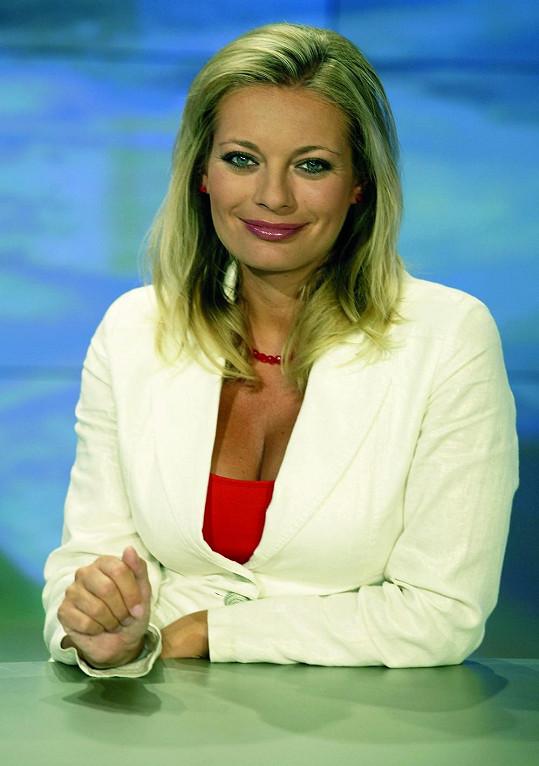 Lucie Borhyová a její začátky v Televizních novinách
