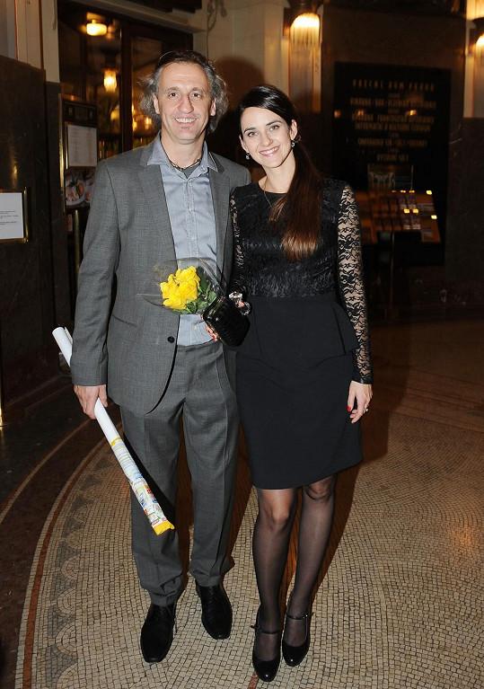 Libuška Vojtková s přítelem Ivanem Blayerem po premiéře muzikálu Zorro