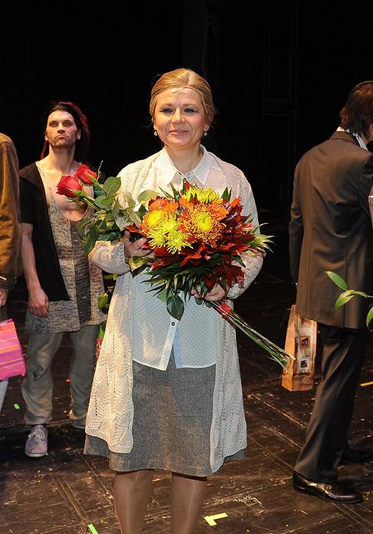 Ivana Andrlová hrála v představení maminku hlavního hrdiny.