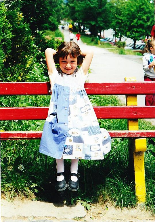 Kristína Debnárová jako malá holčička.