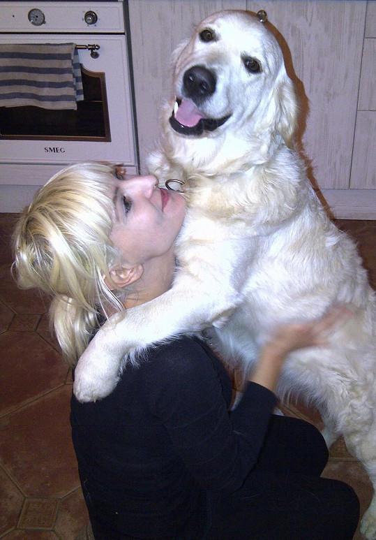 Barbara s miláčkem Garpem.