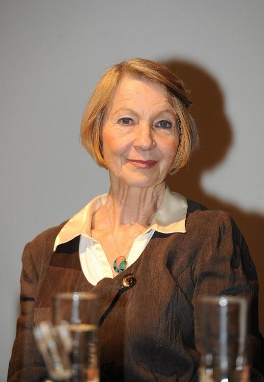 Daniela Kolářová na tiskové konferenci k cyklu Nevinné lži.