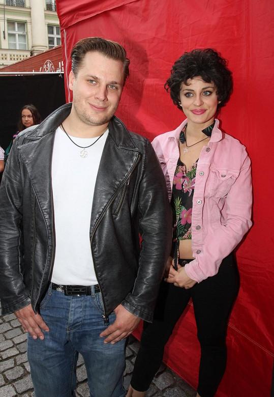 Tomáš Savka s expřítelkyní Markétou Procházkovou na akci Česká hvězda