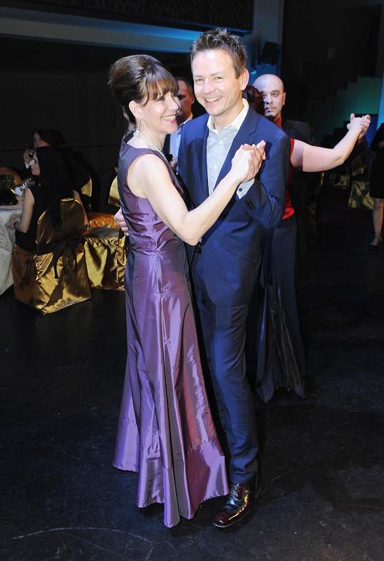 Míša Dolinová tančila s Petrem Lesákem.