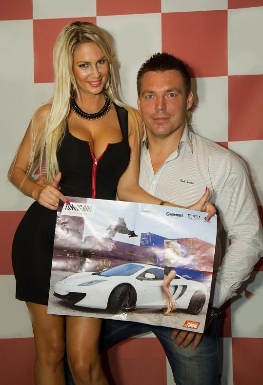 Andrea s fotografem Robertem Novotným, který jí nafotil luxusní fotky.