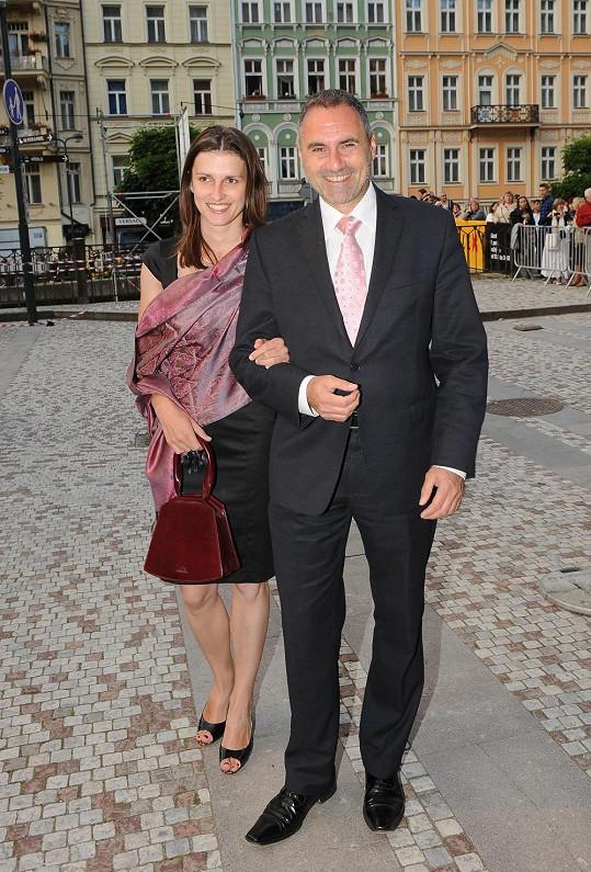 Jan Kalousek s manželkou.