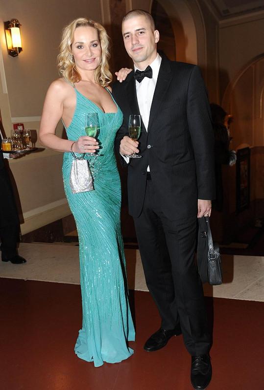 S manželem na Československém plese