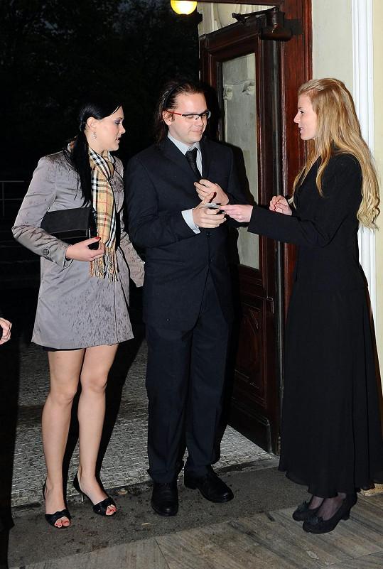 David Vondráček s přítelkyní.