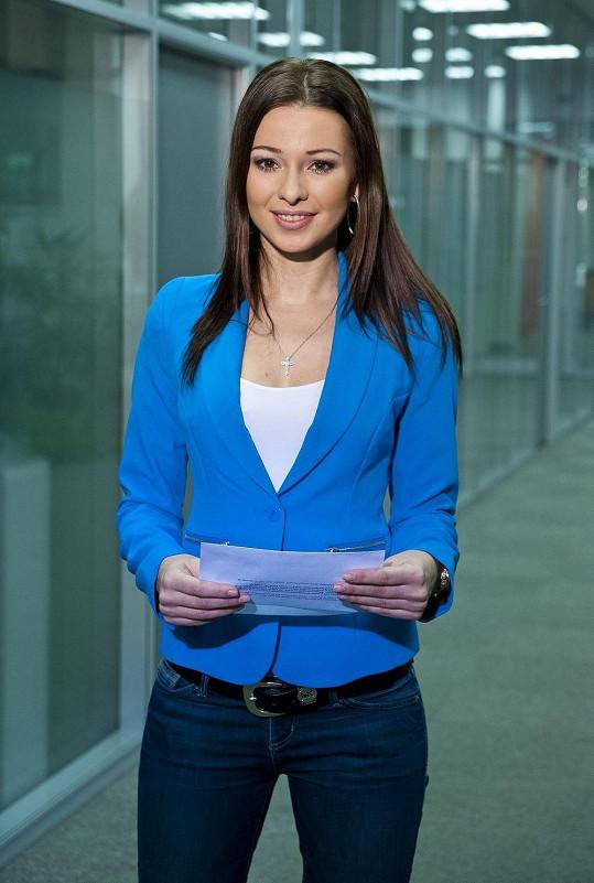Inna Puhajková je v týmu sportovní redakce zpravodajství televize Nova.