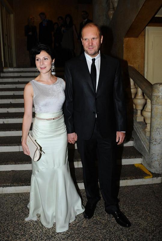 Martha Issová s životním partnerem Davidem Ondříčkem.