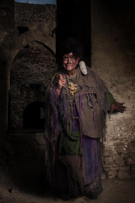 Vilma Cibulková jako čarodějnice