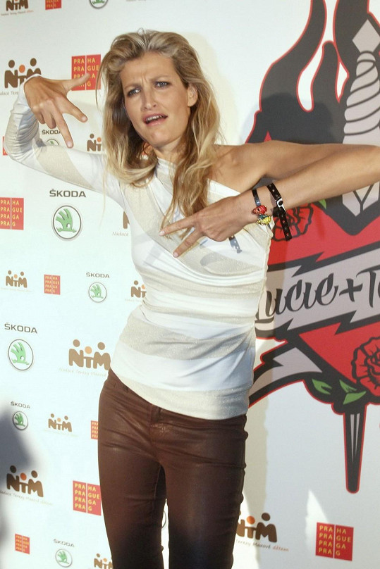 Tereza Maxová je fanynkou kapely Lucie.