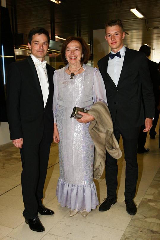 Livia Klausová na festival dorazila se synem a vnukem.
