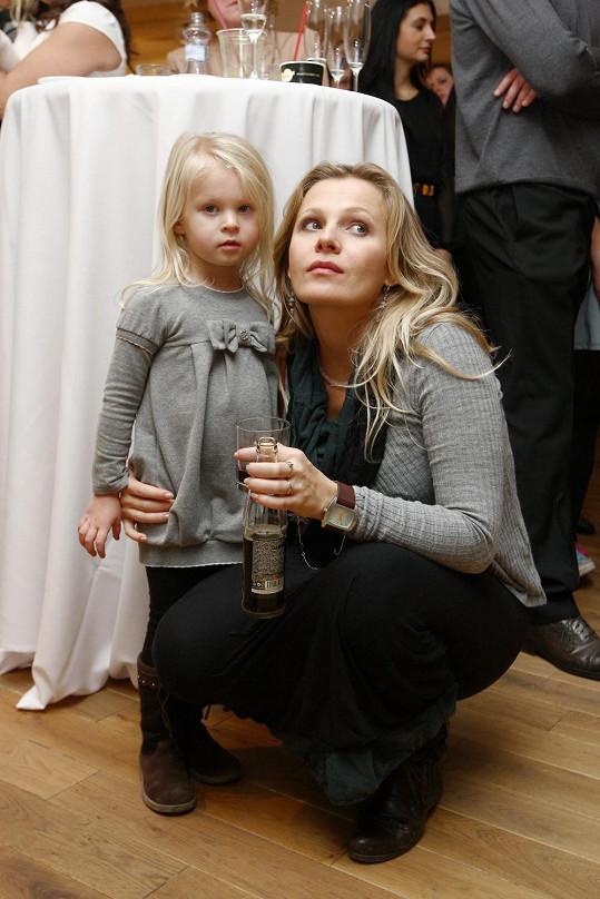 Míša s dcerou Evelínkou