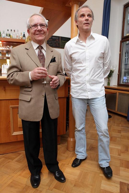 Lukáš Vaculík s režisérem Petrem Weiglem