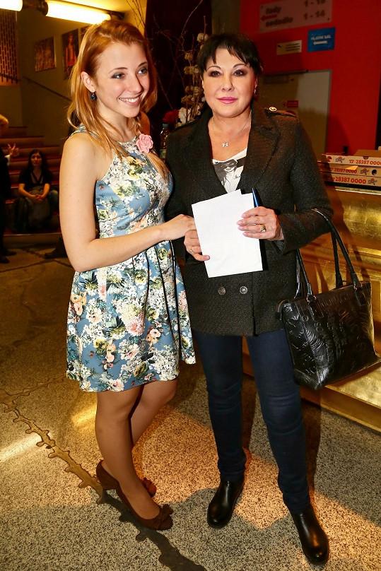 Anna Slováčková s maminkou Dádou na konkurzu