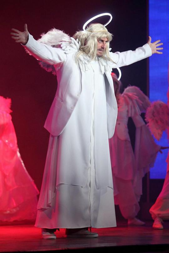 V představení Adam a Eva začínal Pepa jako anděl.