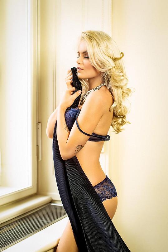Veronika také nedávno nafotila svůdné snímky ve spodním prádle.