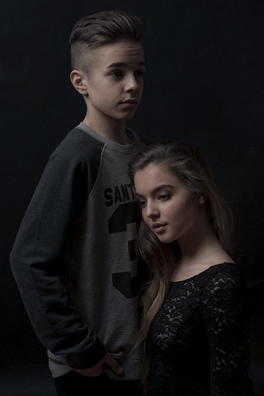 Sofie s mladším synem Nely Boudové...