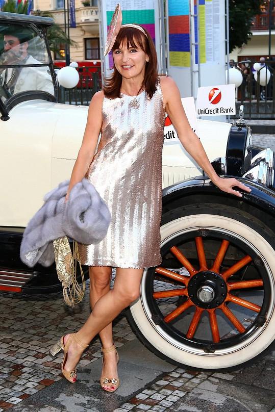 Beata Rajská na párty ve stylu Velkého Gatsbyho