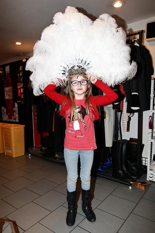 Osmiletá dcera Veroniky Žilkové má talent.