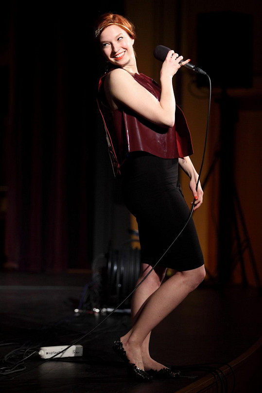 Berenika na svém prvním velkém koncertě