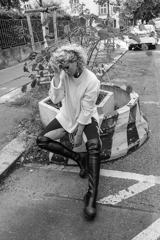 Kateřina Pechová si vyzkoušela roli modelky