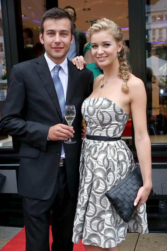 Gabriela Franková s přítelem Romanem.