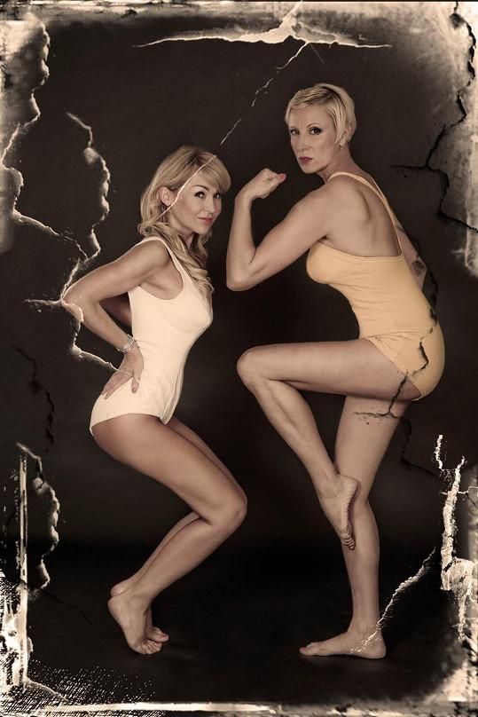 Před pár lety nafotila se zpěvačkou Renatou Drössler už jako blondýnka sexy fotky.