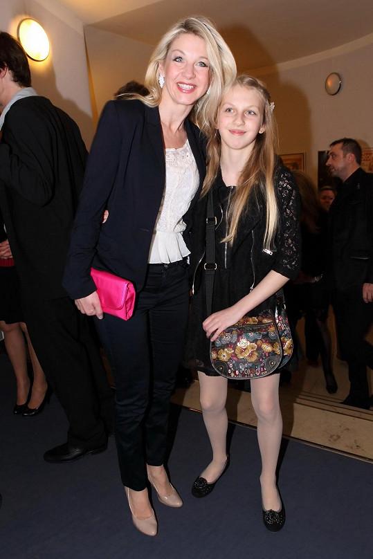 Na expartnera se byla podívat Sabina Laurinová s jejich společnou dcerou Valentýnou.