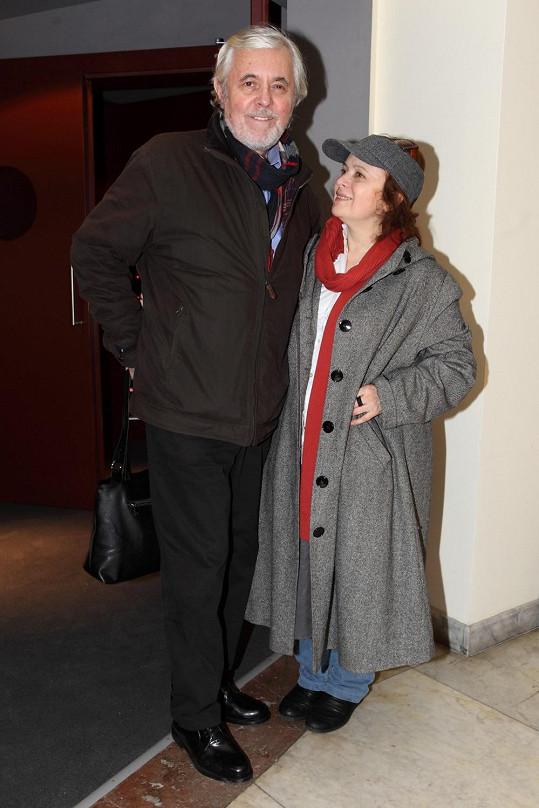 Libuška Šafránková a Josef Abrhám na snímku z roku 2013
