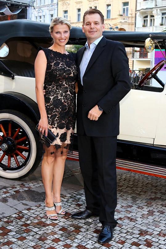Jitka Kocurová s manželem Tomášem Abrahamem