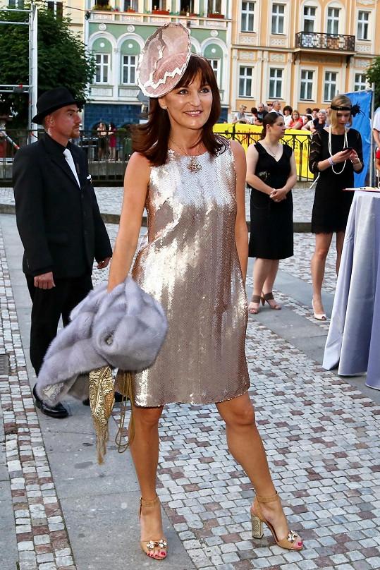 Beata Rajská si dala na modelu hodně záležet.