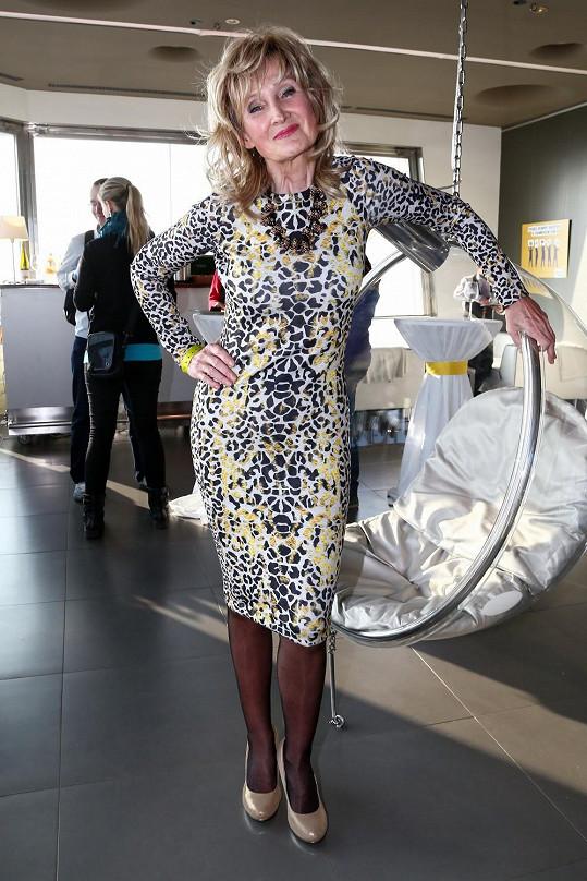 Přiléhavé šaty si může Zuzana Bubílková s klidným svědomím dovolit, vždyť model s dlouhým rukávem a délkou pod kolena odpovídá možnostem jejího věku. Také doplňkům můžeme dát požehnání, ale vzory látek by měla moderátorka volit mnohem umírněnější.