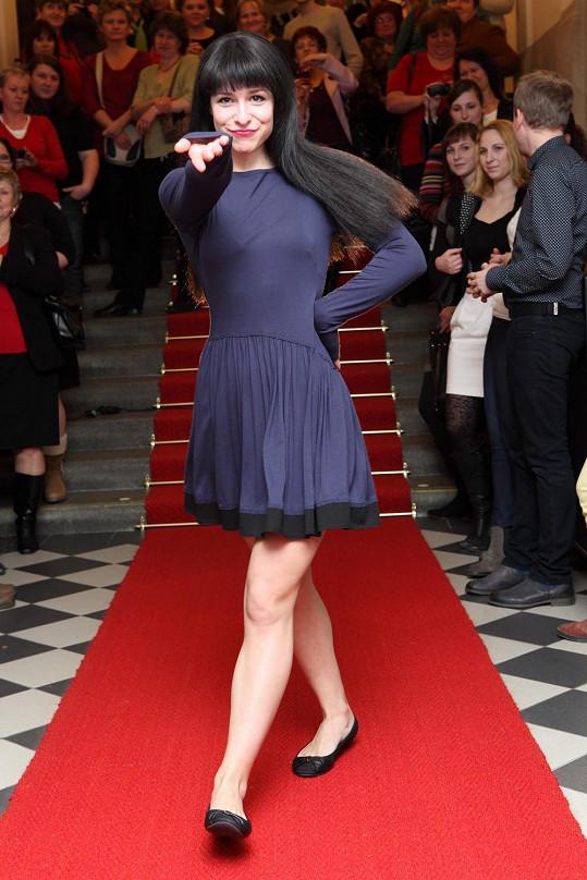 Veronika Kubařová si vyzkoušela roli modelky.