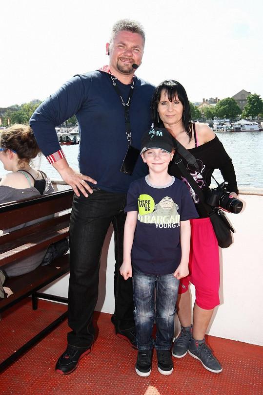 Pepa Melen s manželkou a synem