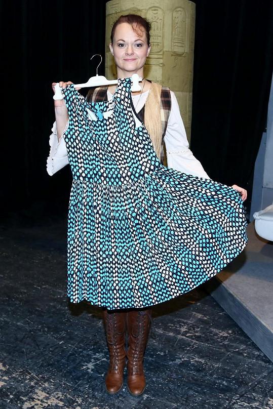 Lucie Matoušková v divadle.