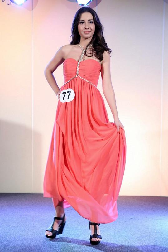 Dominika byla ve finále Miss středních škol.