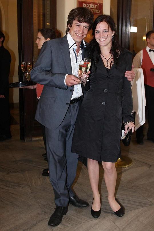 Martin Kraus s přítelkyní Klárou mají syna Filipa.