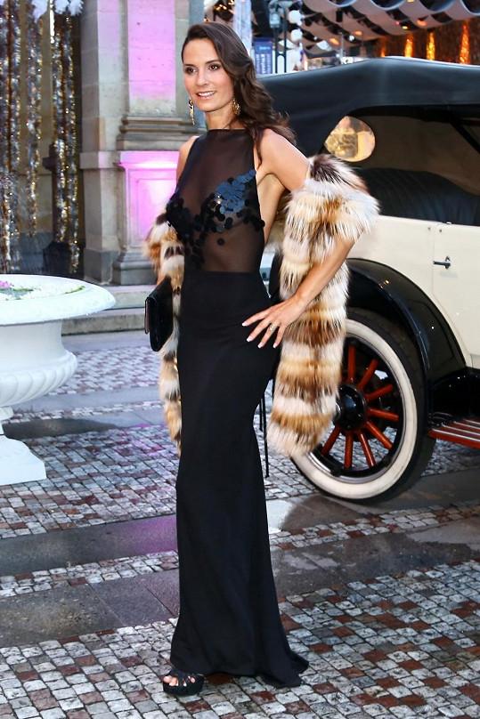 Terezie Dobrovolná si oblékla nejvíce sexy šaty večera.